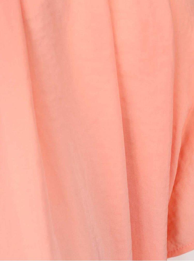 Korálové volné šaty ICHI Fay