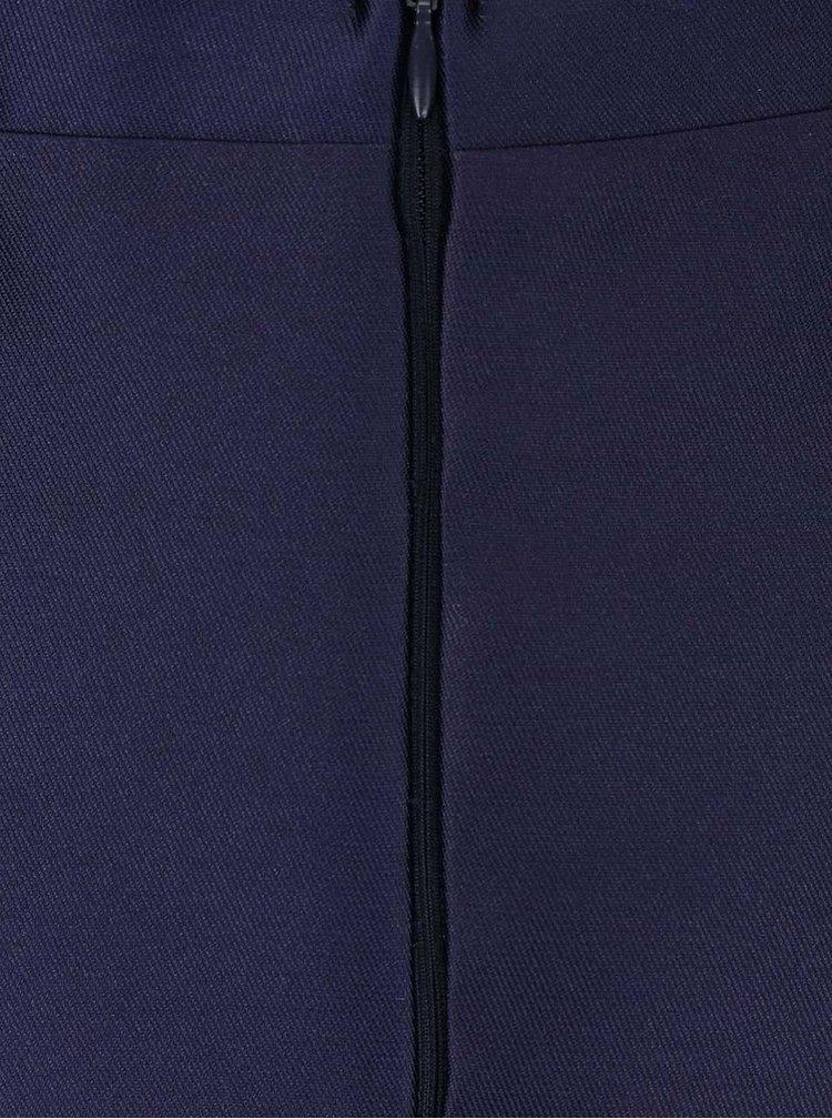 Tmavě modrá sukně s růžovým květem AX Paris