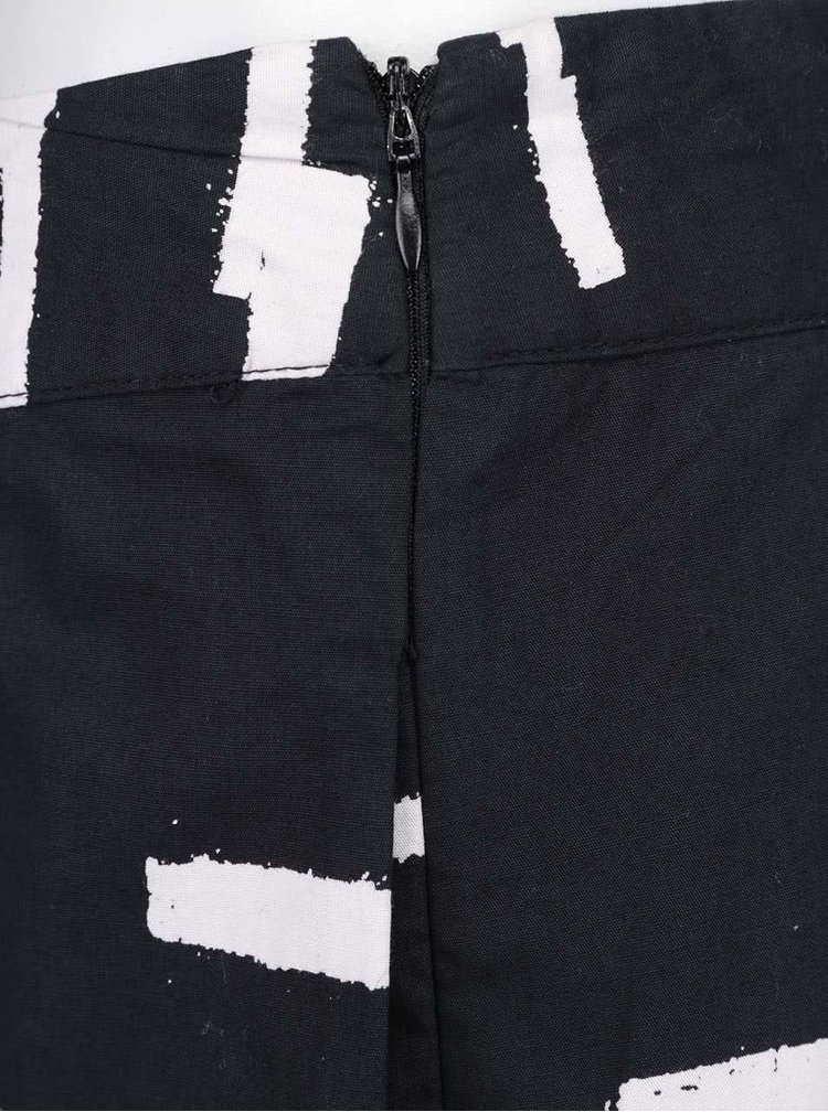 Černá sukně se vzorem ICHI Dawn