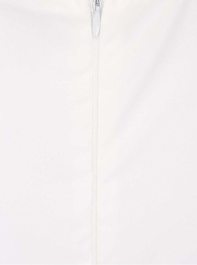 Krémové šaty so vzorom a flitrami AX Paris