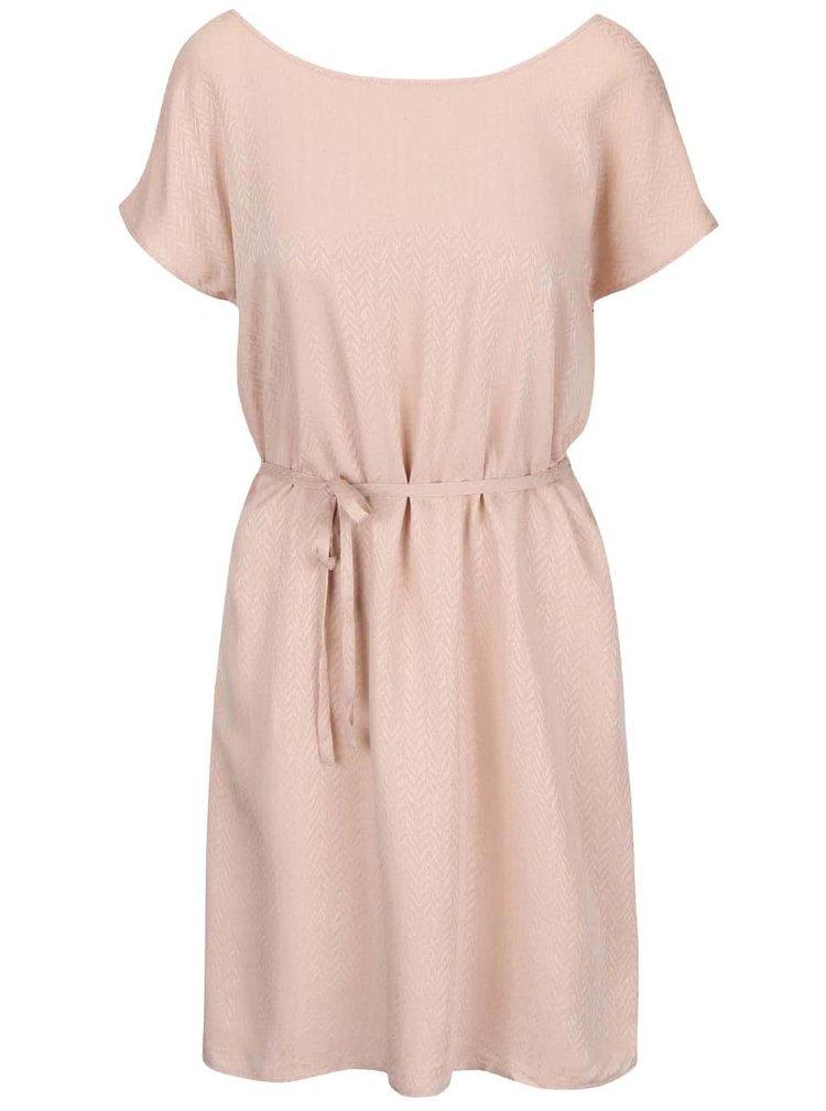 Staroružové voľnejšie šaty s opaskom ICHI Cece