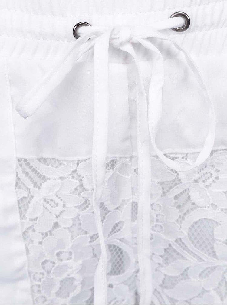 Bílé krajkové kraťasy ICHI Aliyah