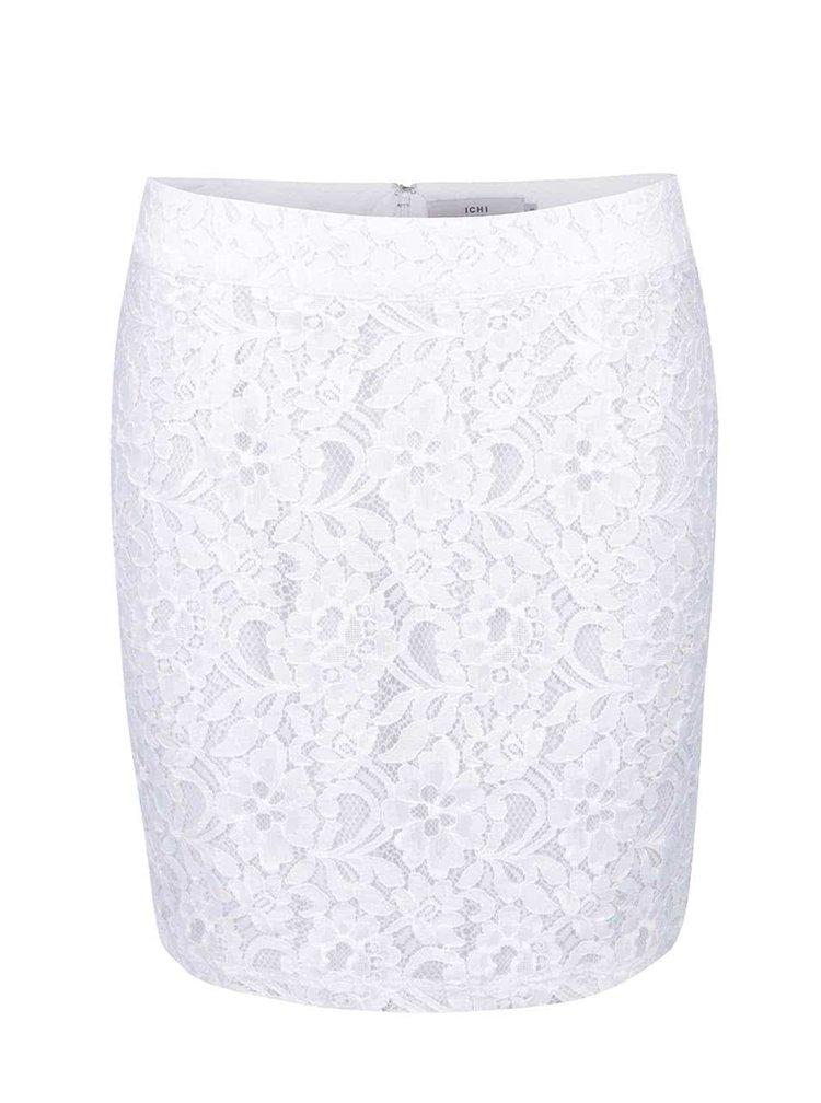 Bílá krajková minisukně ICHI Aliyah