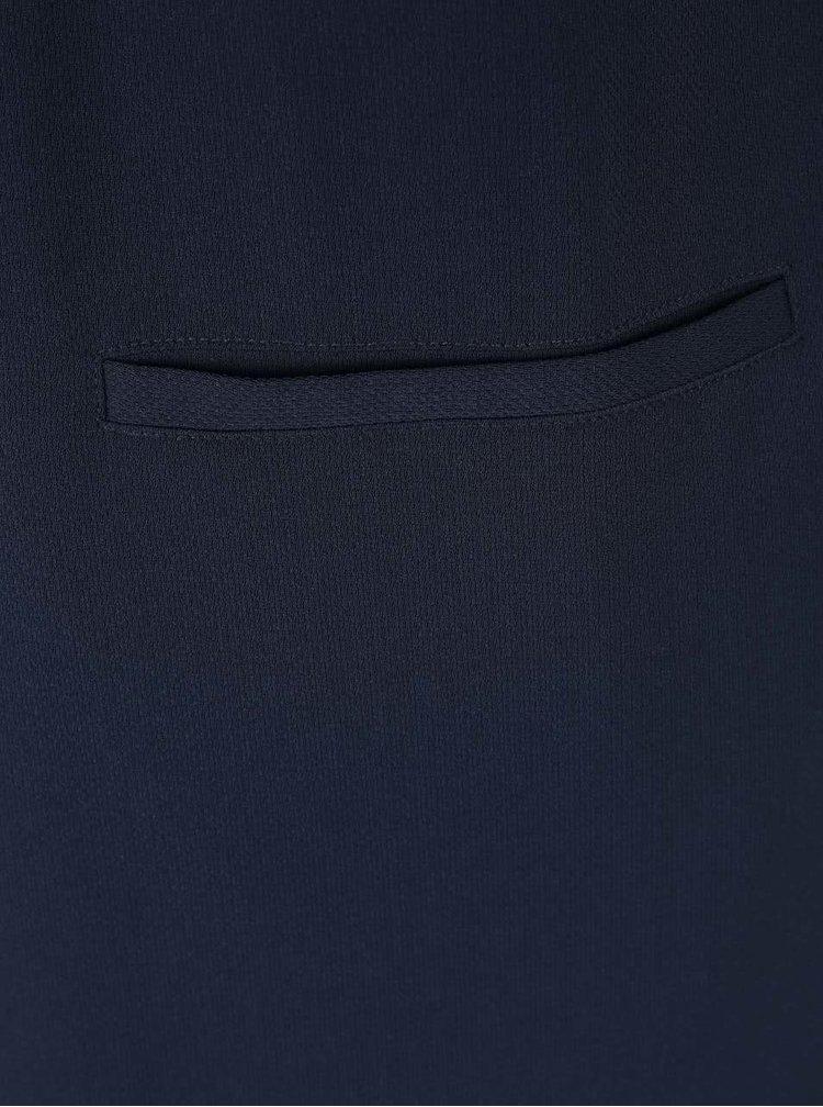 Tmavě modrá delší vesta ICHI Sirit