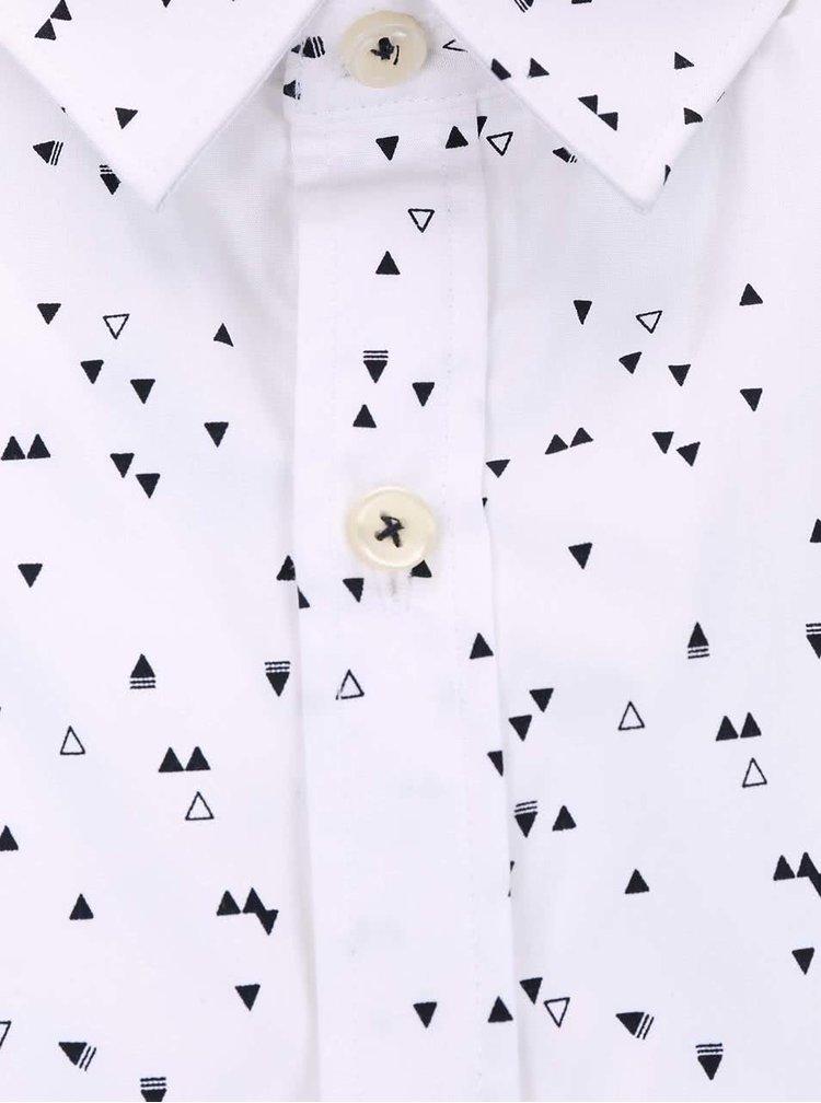 Biela košeľa so vzorom Lindbergh Gibson Out