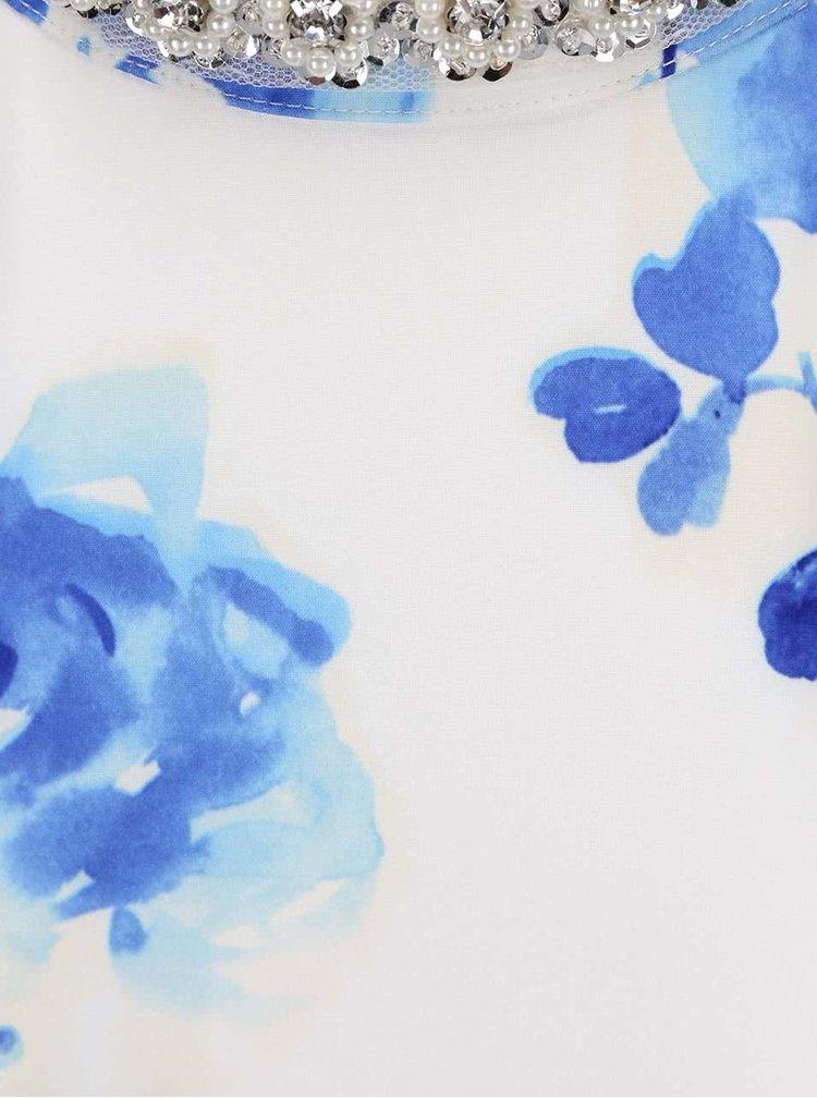 Rochie maxi cu imprimeu floral Little Mistress alba