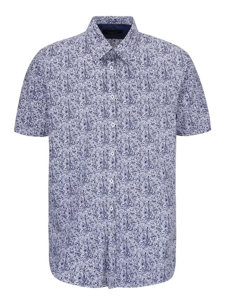 Bílo-modrá košile se vzorem Lindbergh Dress Fit