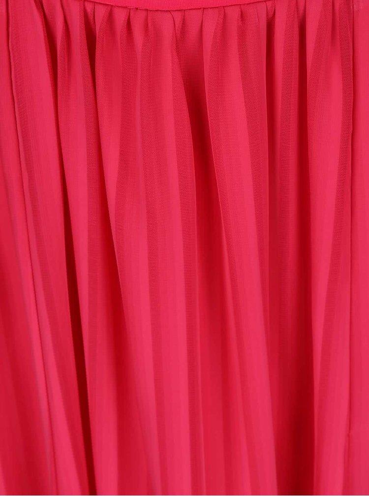 Ružové maxišaty s rozparkami Little Mistress