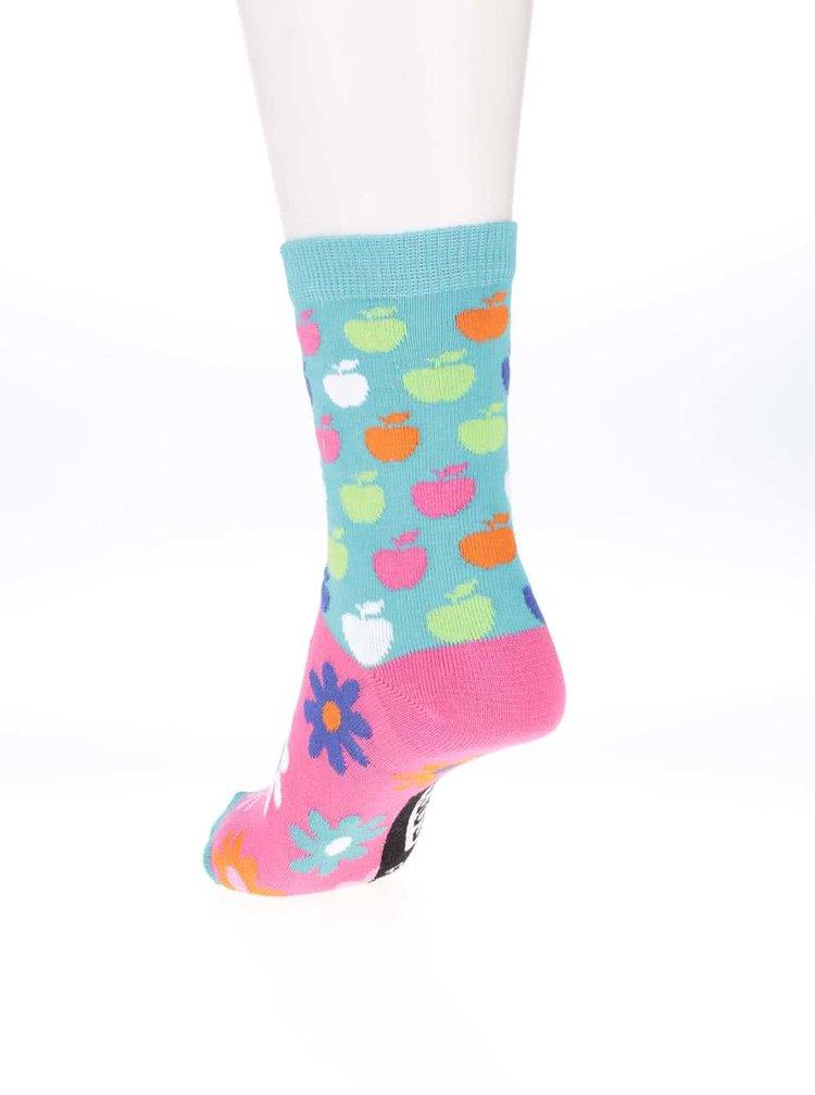 Sada tří dámských/holčičích ponožek v růžové a modré barvě Oddsocks Apples