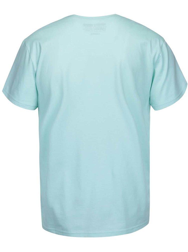 Mentolové pánske tričko s potlačou Vans Classic