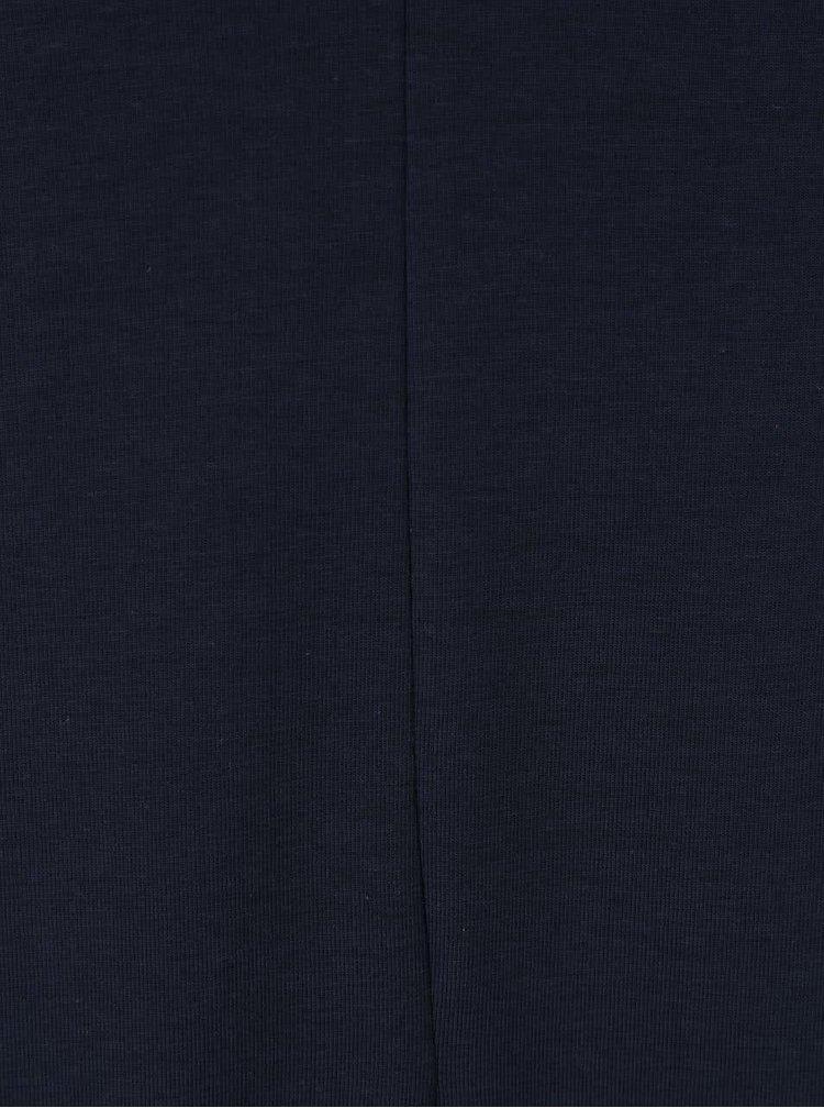 Tmavomodré dlhé šaty s okrúhlym výstrihom ICHI Lalulu