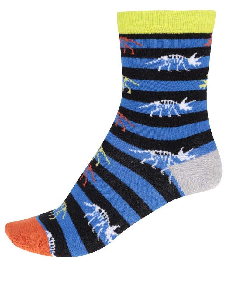 Sada tří klučičích ponožek ve žluté a modré barvě Oddsocks Roar
