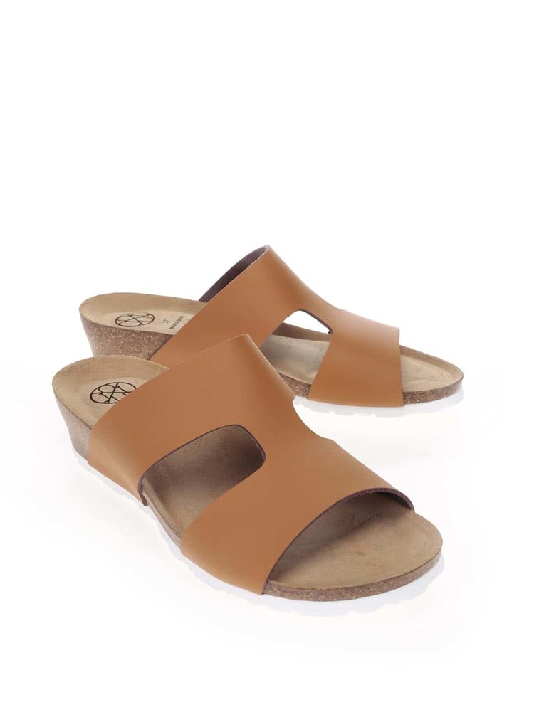 Hnědé dámské pantofle OJJU