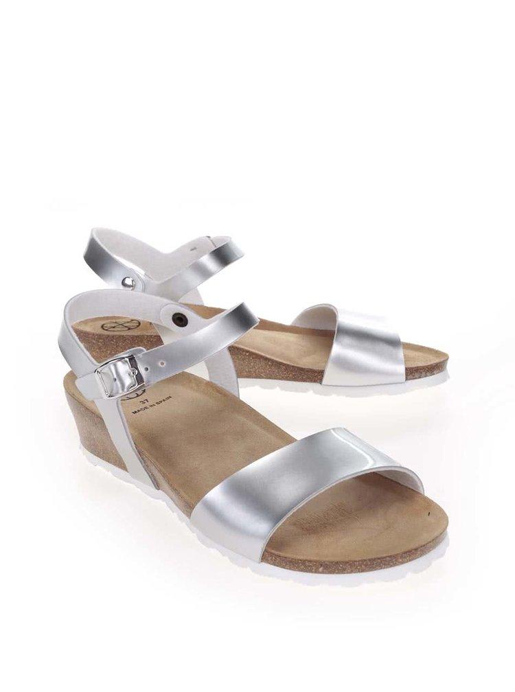 Dámske sandále v striebornej farbe OJJU