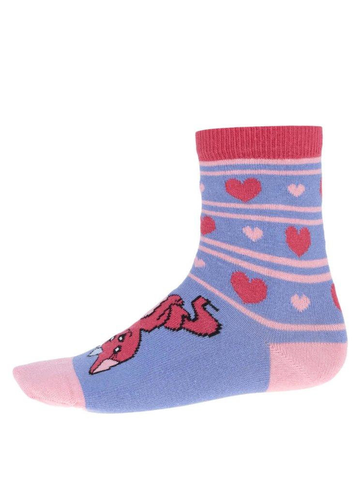 Set de 3 șosete roz&albastru pentru fete - Oddsocks Pets