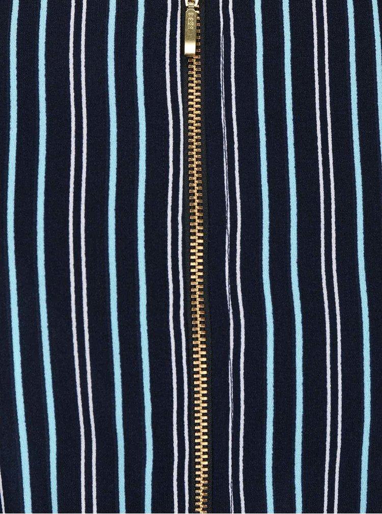 Modré pruhované šaty Closet