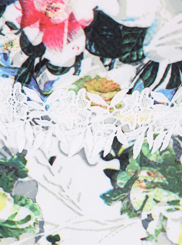 Rochie cu imprimeu floral Paper Dolls alba