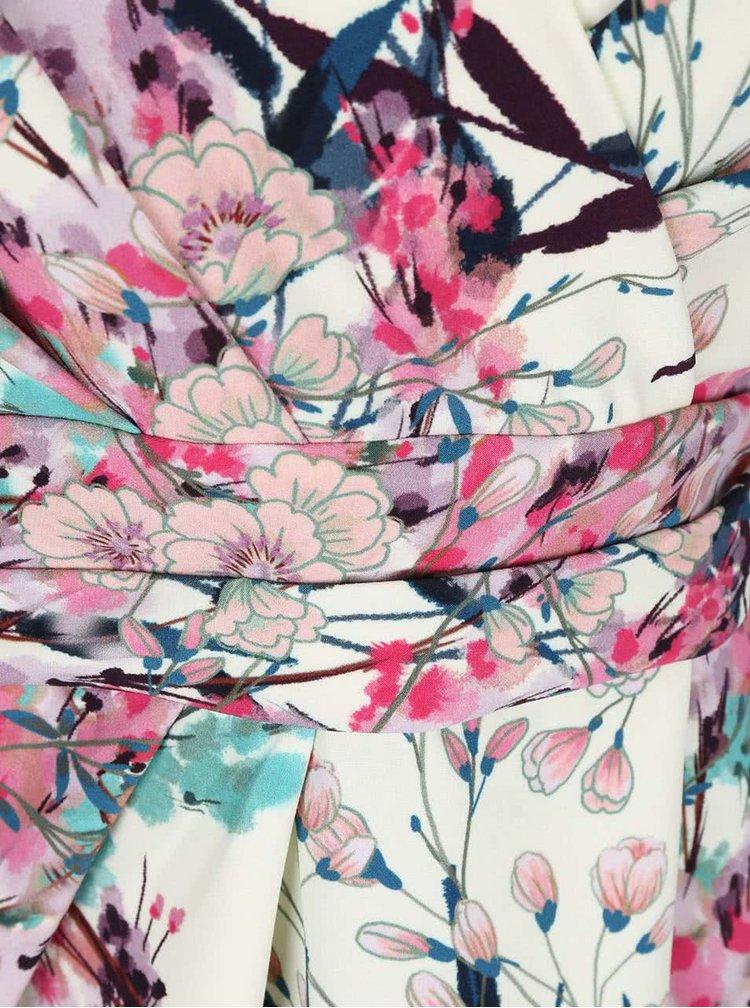 Rochie Closet crem cu imprimeu