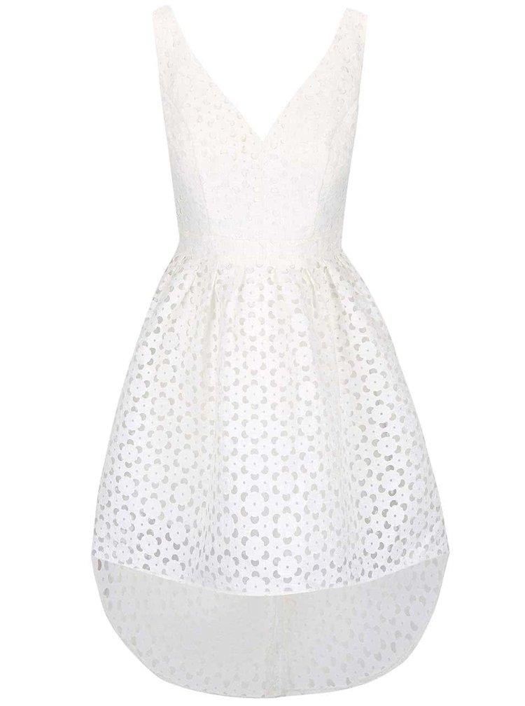Krémové vzorované šaty Chi Chi London Leanne