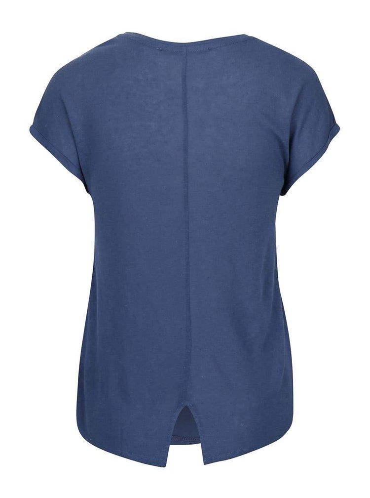 Tmavomodré tričko s pierkami ONLY Reba