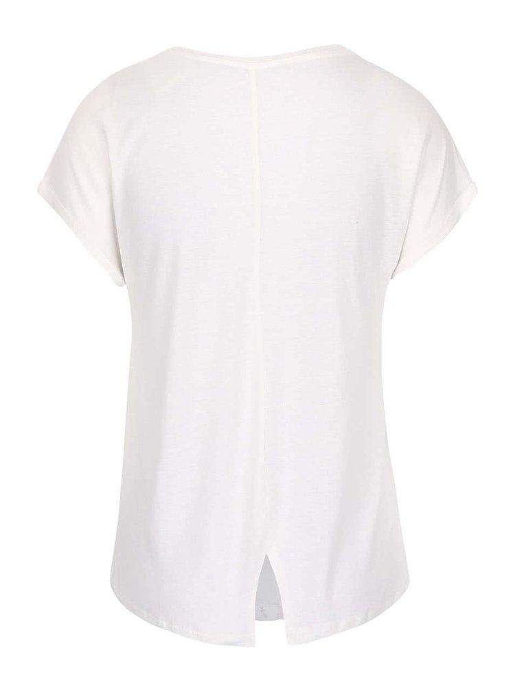 Krémové tričko s pierkami ONLY Reba