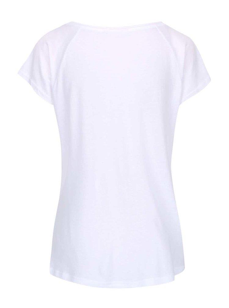 Tricou alb ONLY cu imprimeu