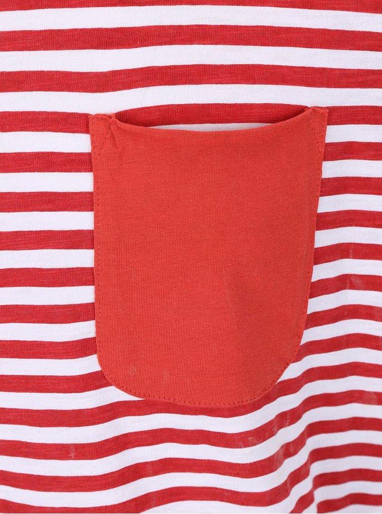 Tricou cu dungi Blend roșu