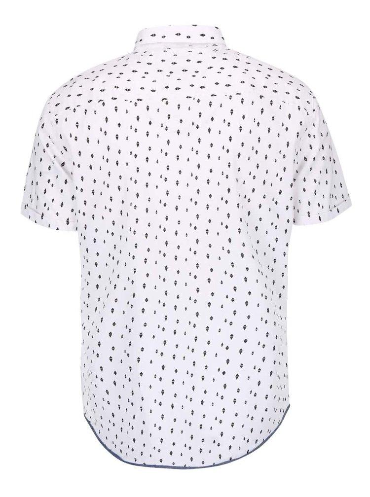 Biela košeľa so vzorom Blend