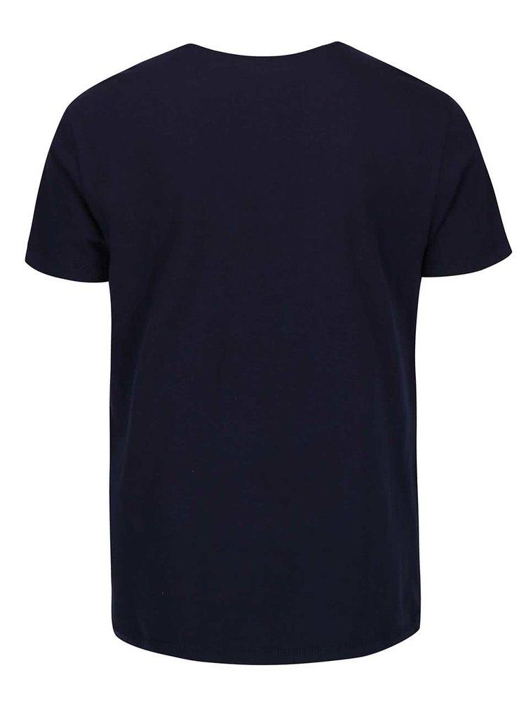 Tmavě modré triko s potiskem NYC Blend