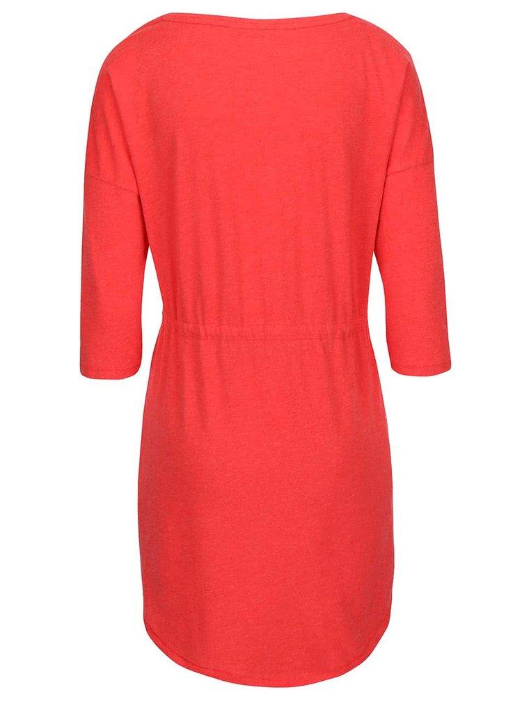 Červené šaty s 3/4 rukávom ONLY May