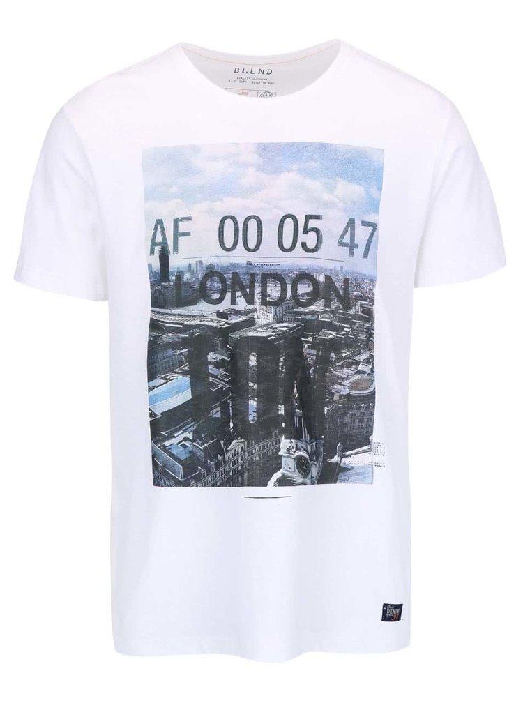 Biele tričko s potlačou Londýna Blend
