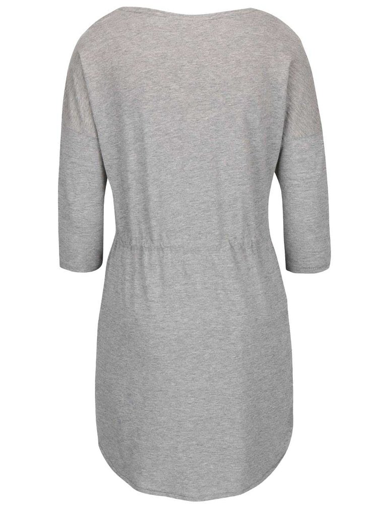 Světle šedé šaty s 3/4 rukávem ONLY May
