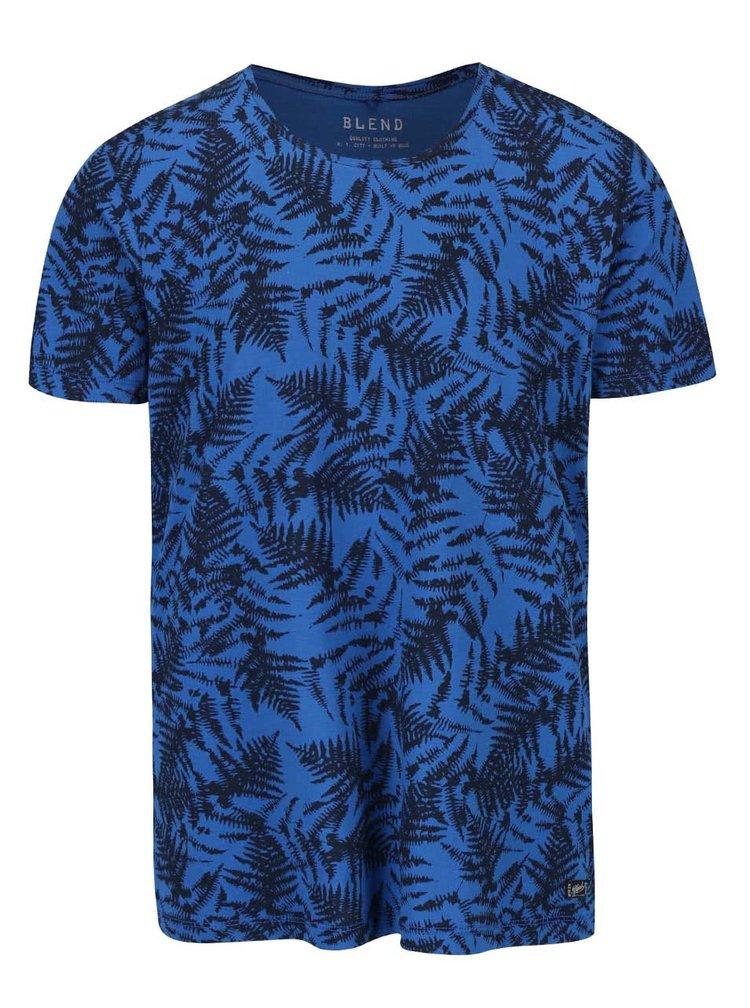 Černo-modré vzorované triko s krátkým rukávem Blend