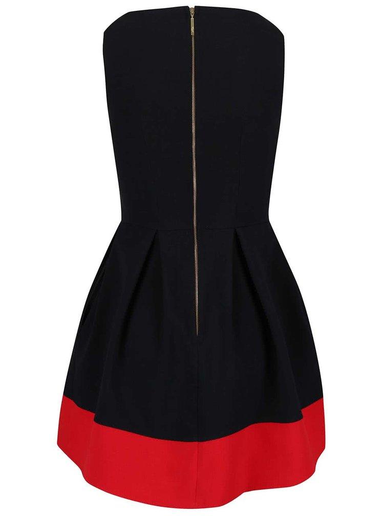 Černé šaty s červeným lemem Closet
