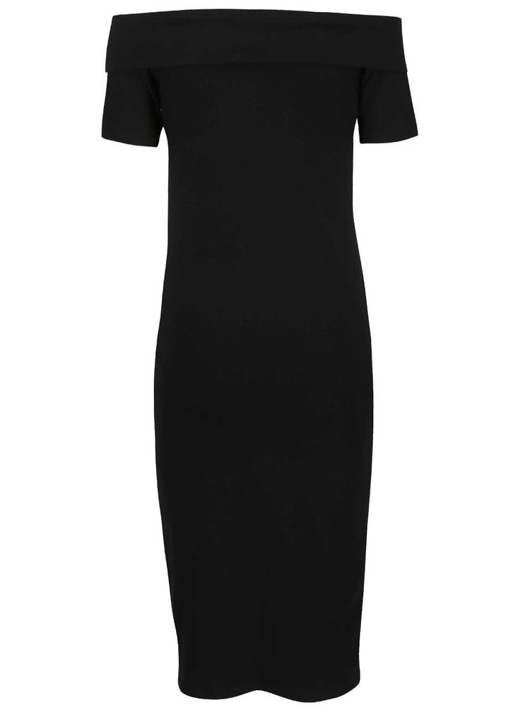 Černé šaty s lodičkovým výstřihem ONLY Live Love