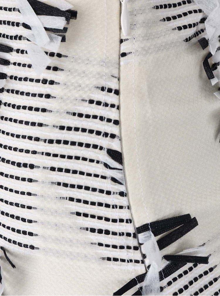 Krémová sukně s třásněmi KARL LAGERFELD