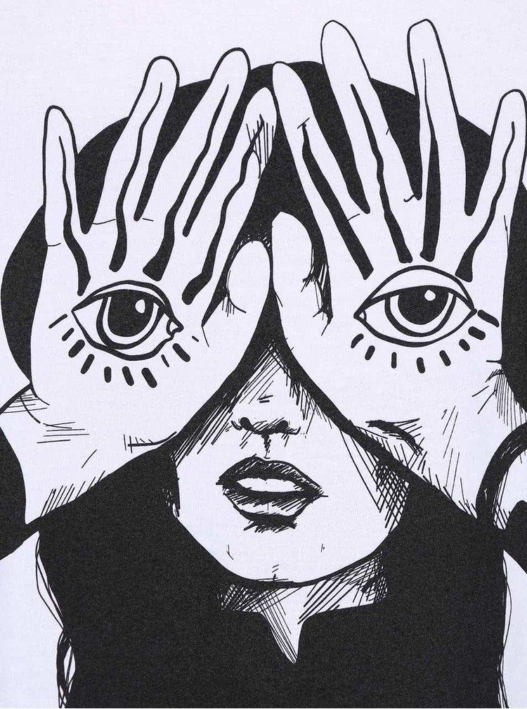 Bílé tílko s potiskem Alchymi Eyes