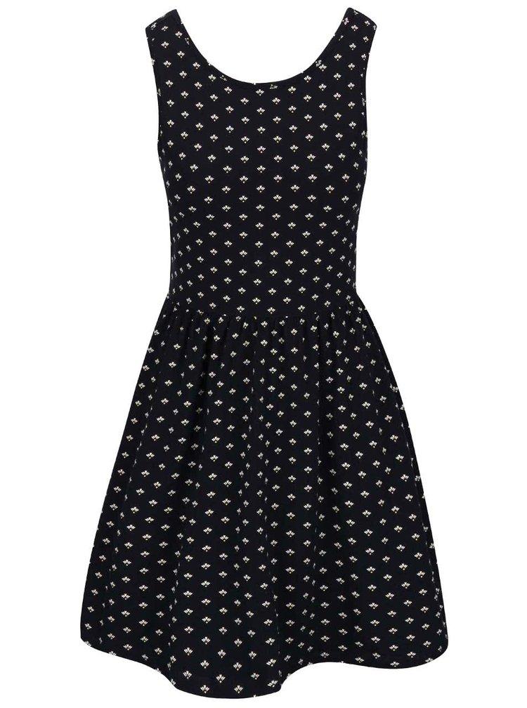 Tmavomodré šaty so vzorom ONLY Live Love Niella