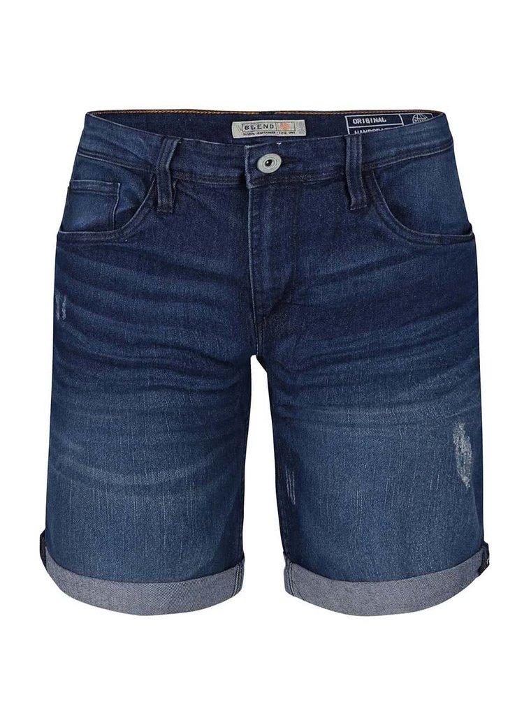 Pantaloni scurți din denim Blend albaștri