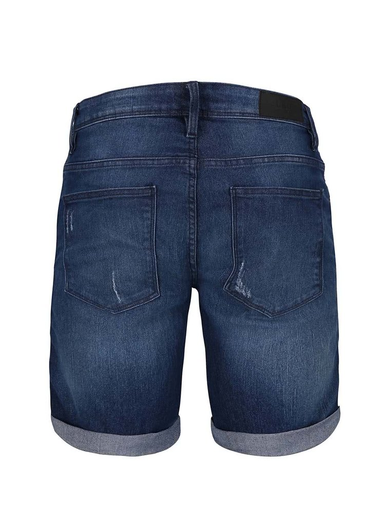 Pantaloni scurți din denim Blend albaștri