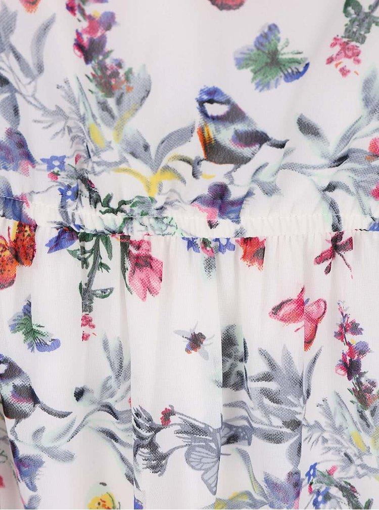 Rochie cu imprimeu ONLY Butterfly crem