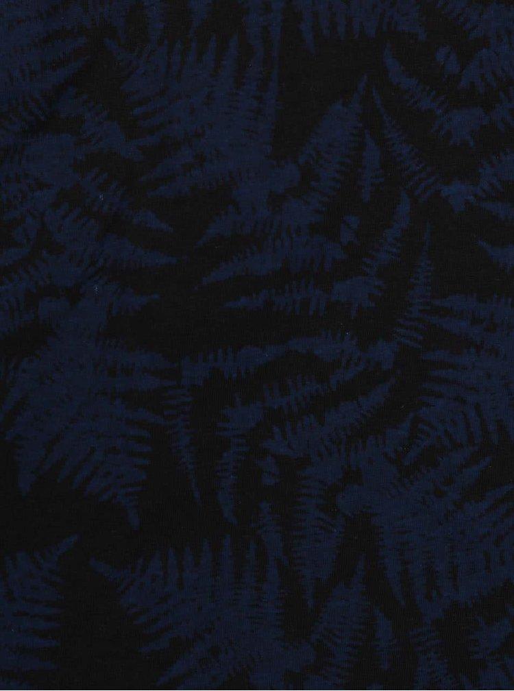 Modro-čierne vzorované tričko s krátkym rukávom Blend