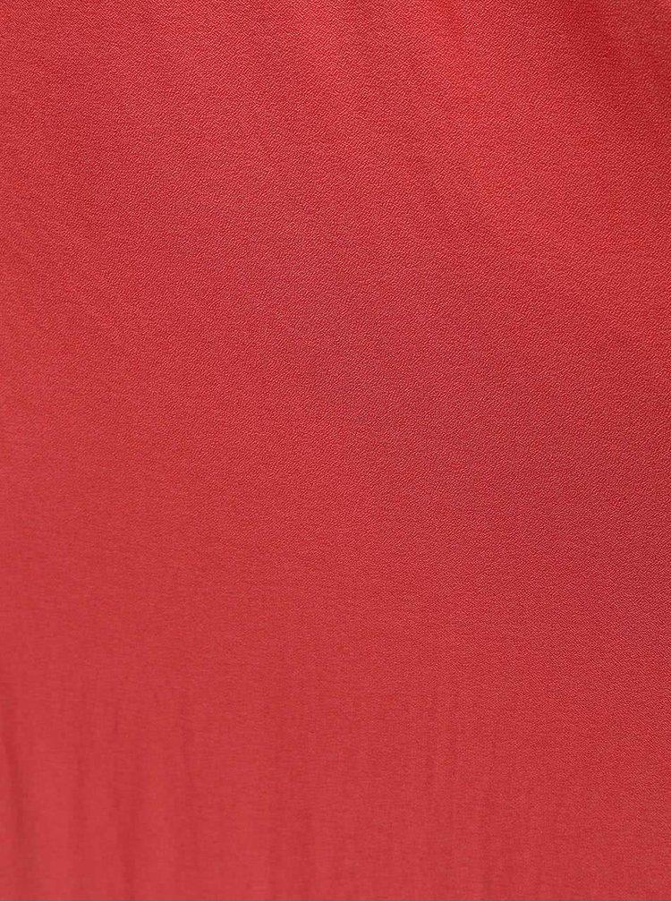 Červené maxišaty s volánkem ONLY Mojo Solid