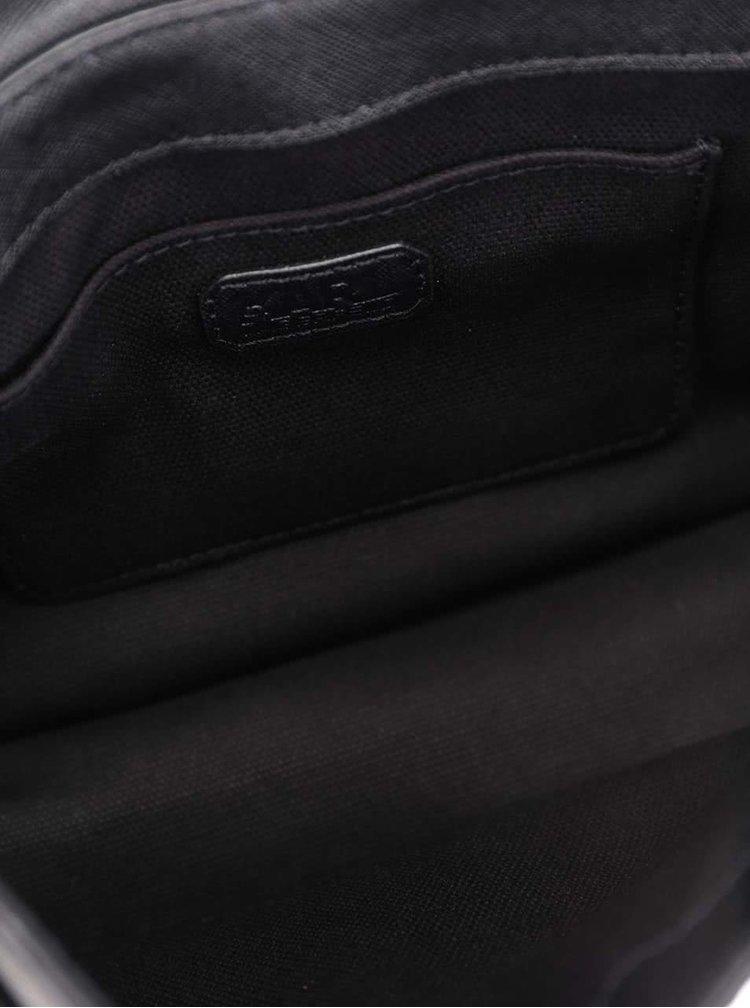 Černá kožená crossbody kabelka s detaily ve zlaté barvě KARL LAGERFELD