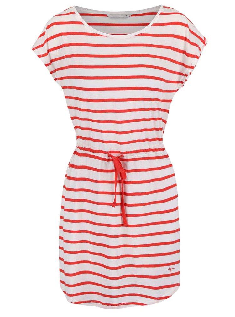 Krémové šaty s červenými pruhy ONLY May