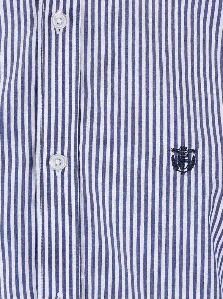 Bílá košile s modrými pruhy Selected Gun