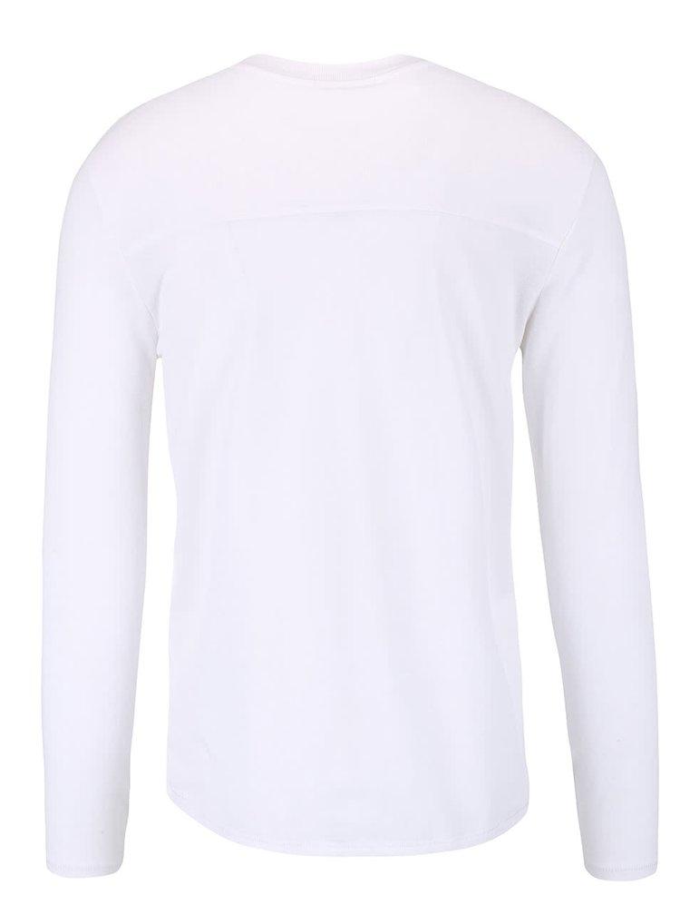 Bílé triko s dlouhými rukávy Selected Homme Basil