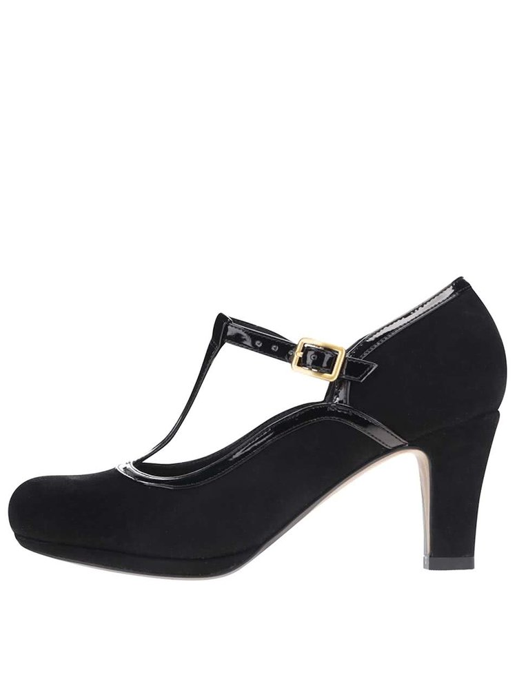 Pantofi din piele Clarks Chorus Tempo negri