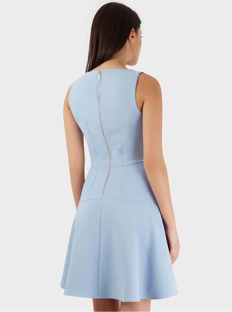 Světle modré šaty bez rukávů Closet