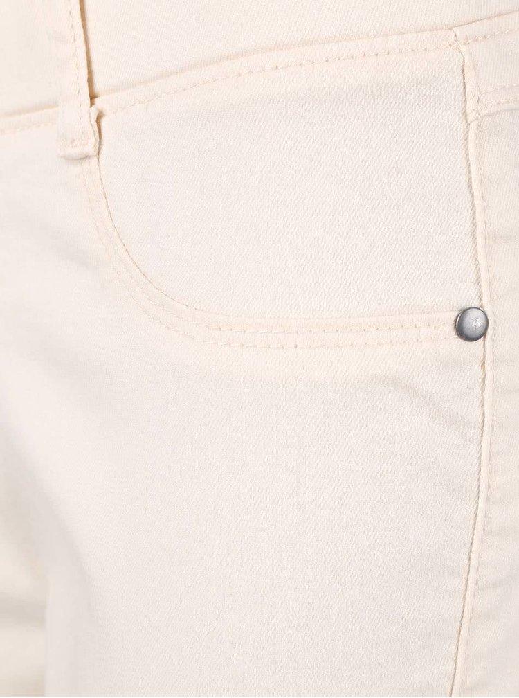 Pantaloni capri Dorothy Perkins Petite crem